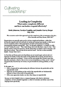 Leading in Complexity
